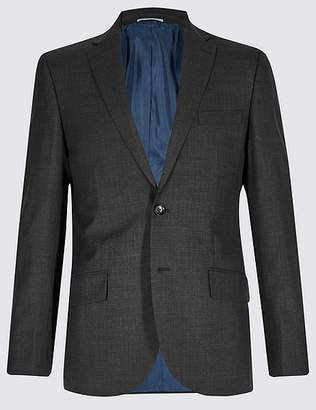 Marks and Spencer Grey Textured Tailored Fit Jacket
