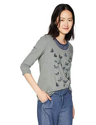 Lucky Brand Women's Allover Butterfly TEE