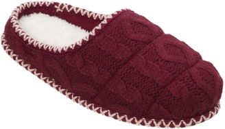 Dearfoams Quilted Cable Knit Slipper Clogs
