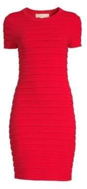 MICHAEL Michael Kors Women's Mini Ruffle Dress - Scarlet - Size XS