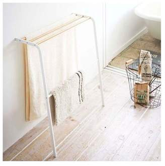 NewestEdition 12.6 x 25.6 in. Tosca Leaning Bath Towel Rack - White