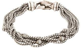 David Yurman Diamond Eight Row Chain Multistrand Bracelet
