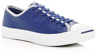 Converse Men's Jack Purcell Leather Lace-Up Sneakers