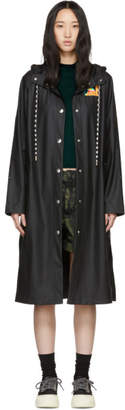 Proenza Schouler Black Hooded Raincoat