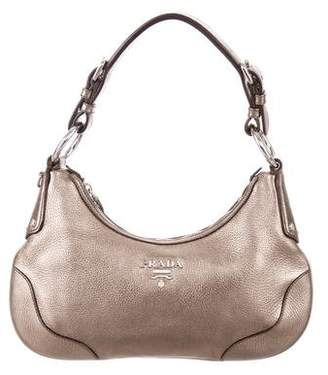 Prada Metallic Vitello Daino Hobo