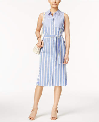 Ny Collection Striped Shirtdress $70 thestylecure.com