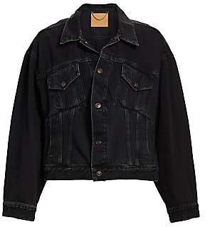 Balenciaga Women's Denim Swing Jacket