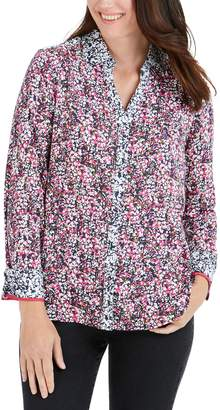 Foxcroft Mary Garden Party Wrinkle Free Shirt