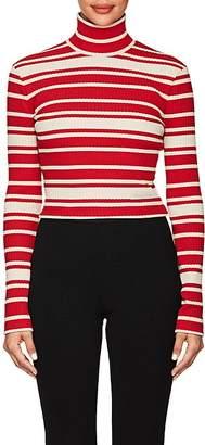 Prada Women's Striped Rib-Knit Turtleneck Sweater