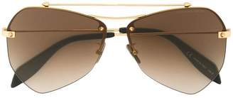 Alexander McQueen Eyewear oversized bar detail sunglasses