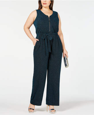 8cd9cdd8411 NY Collection Plus and Petite Plus Size Metallic Jumpsuit