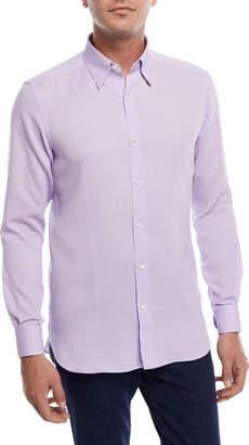 Ermenegildo Zegna Pique Cotton Sport Shirt