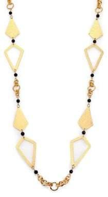 Stephanie Kantis Hope Black Onyx Station Necklace