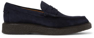 Tod's Suede Penny Loafers - Men - Navy