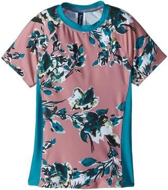 Splendid Littles Watercolor Floral Surf Shirt Girl's Swimwear