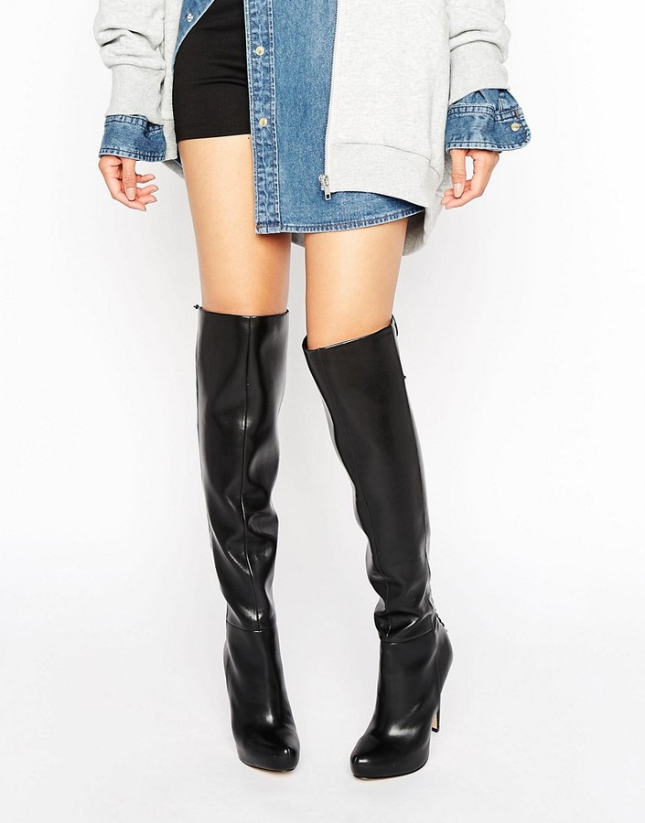 Aldo ALDO Graziella Lace Back Platform Heeled Over The Knee Boots