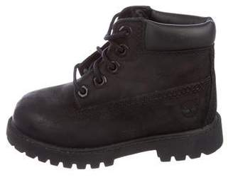 Timberland Boys' Leather Ankle Boots