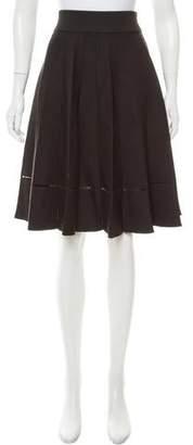 A.L.C. Knee-Length Pleated Skirt
