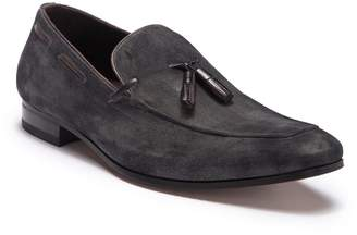 Mezlan Burnished Suede Tassel Loafer