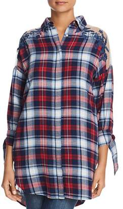 Velvet Heart Plaid Button-Down Tunic
