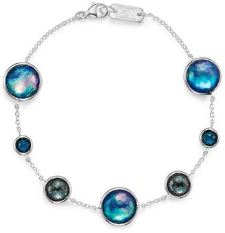 Ippolita Sterling Silver Lollipop Lapis Triplet, London Blue Topaz & Hematite Bracelet in Eclipse