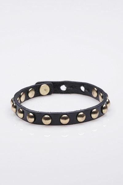 Linea Pelle Skinny Cuff Bracelet in Black