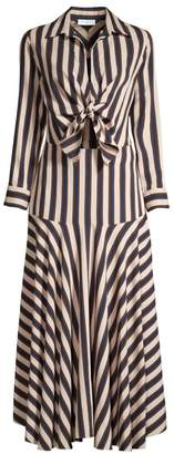 Sandro Vilna Striped Tie-Front Shirtdress