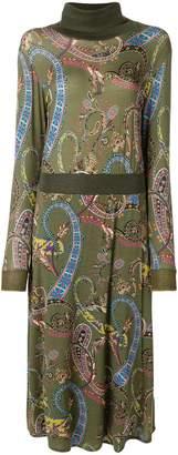 Etro turtleneck printed dress