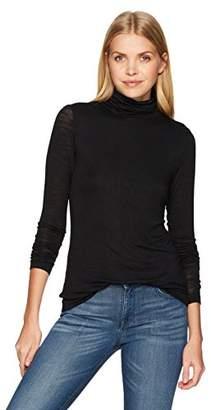 Halston Women's Long Sleeve Turtleneck Slim Tee