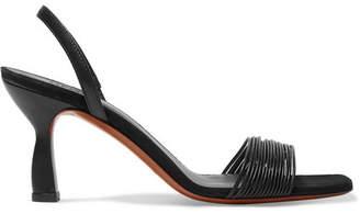 Neous Dilema Leather Slingback Sandals - Black