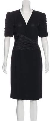 Bill Blass Midi Wrap Dress Black Midi Wrap Dress