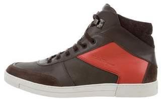 Salvatore Ferragamo Colonia Leather Sneakers w/ Tags