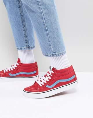 269c57e0b131 at ASOS Vans SK8-Mid Reissue Sneakers In Red VA3MV8Q8C