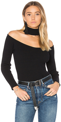 MAJORELLE Skyfall Sweater in Black $198 thestylecure.com