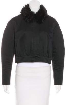 Paule Ka Fur-Trimmed Cropped Jacket