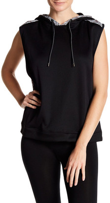 Zobha Activewear Wide Sleeveless Hoodie $54 thestylecure.com