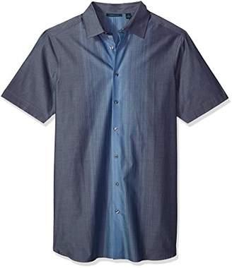 Perry Ellis Men's Tall Short Sleeve Vertical Ombre Shirt