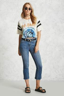 Forever 21 Contemporary Embroidered Jeans