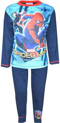 Marvel Official Boys Spiderman Home Coming Movie Long Length Pyjama 4 to 10 Years