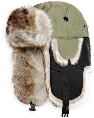 Woolrich Woolwich Men's Adjustable Trooper Hat with Faux Fur