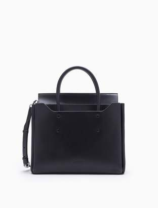 Calvin Klein folded medium leather carryall bag