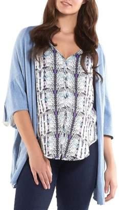 Harlyn Tart Maternity 'Harlyn' Cotton & Cashmere Maternity Wrap Cardigan