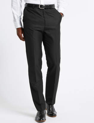 M&S CollectionMarks and Spencer Big & Tall Black Tailored Fit Trousers