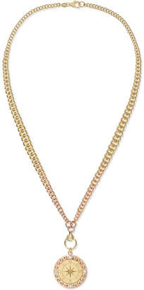 Foundrae Course Correction 18-karat Yellow And Rose Gold Diamond Necklace
