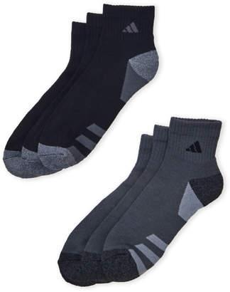 adidas 6-Pack Cushioned Quarter-Cut Socks