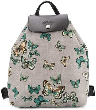 Longchamp butterfly print small backpack