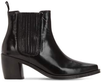 ALEXACHUNG Alexa Chung 70mm Leather Ankle Boots