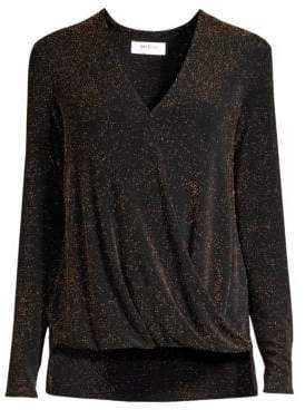 Bailey 44 Glitter Wrap-Front Top