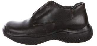 Prada Sport Low-Top Leather Hiking Boots