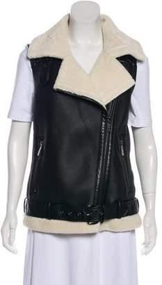 MICHAEL Michael Kors Faux Leather Zip-Up Vest w/ Tags